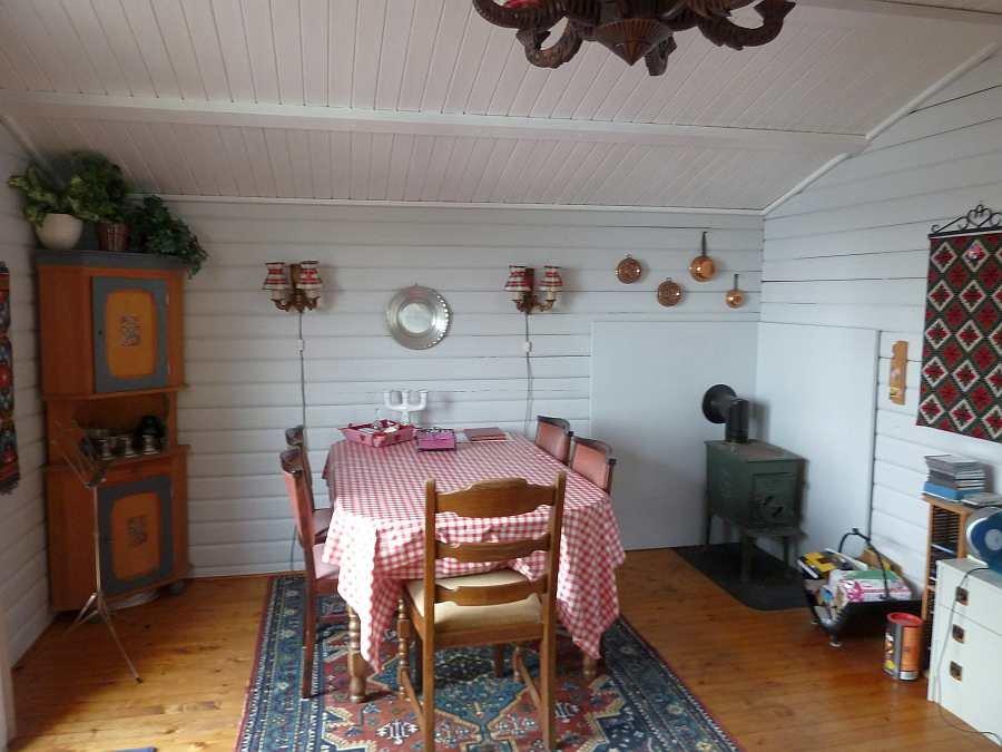Der Essbereich des Wohnzimmers