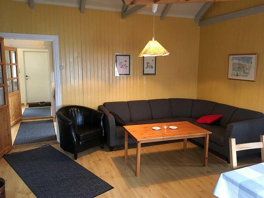 Die Sitzecke im Wohnbereich