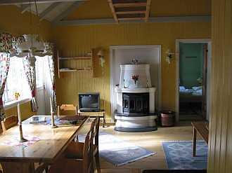 Ess- und Wohnbereich im Haus Aarnes