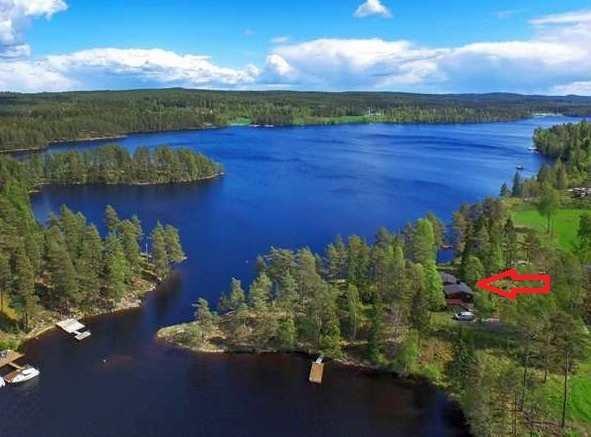 Die Lage vom Haus Anneberg am See Stora Le