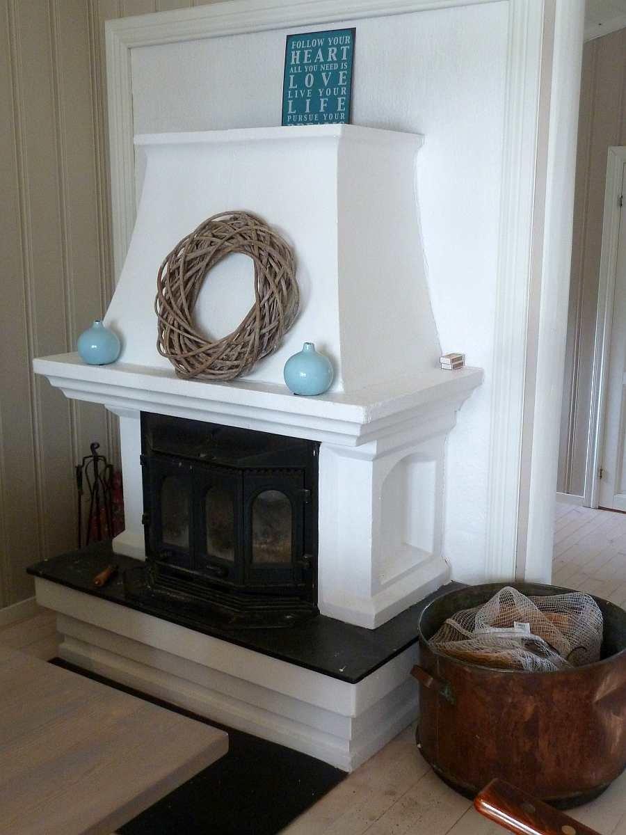 Der Kamin-Ofen im Wohnzimmer