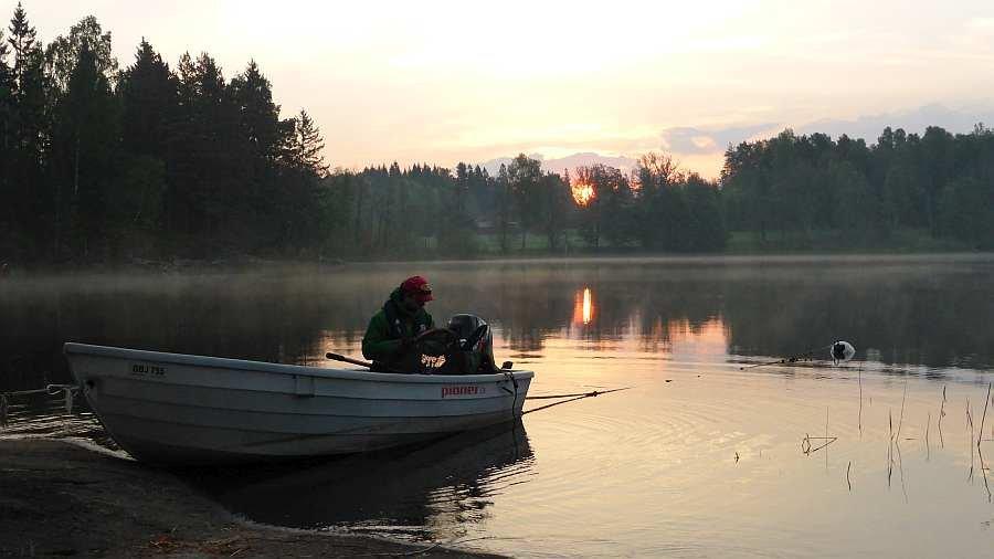 Abendstimmung am Hauseigenen See