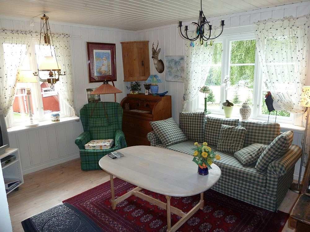 Wohnbereich im Ferienhaus Bergsplass