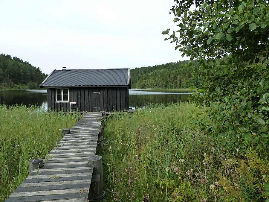 Bootshaus und Sauna am Nördlichen Elchsee