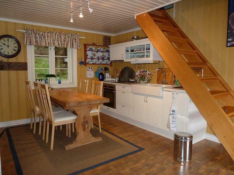 Die komplett ausgestattete Küche im Haus Bergsplass