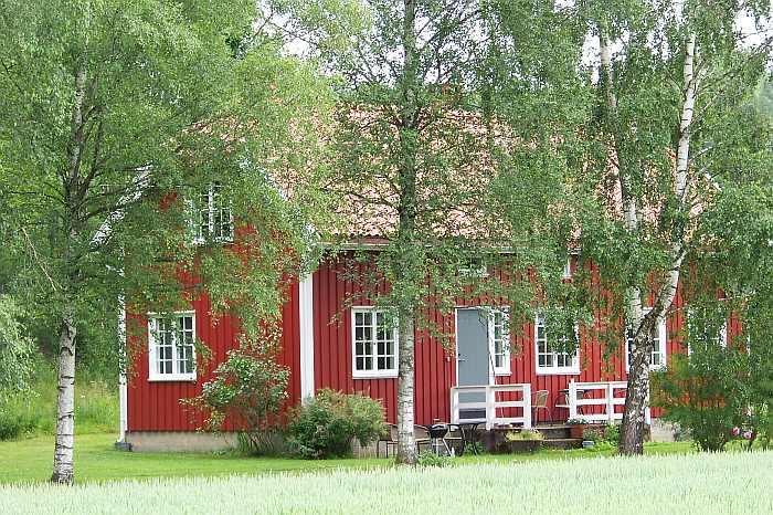 Haus Berby liegt abseits des Hauptgebäudes des Gutshofes Berby Herregård