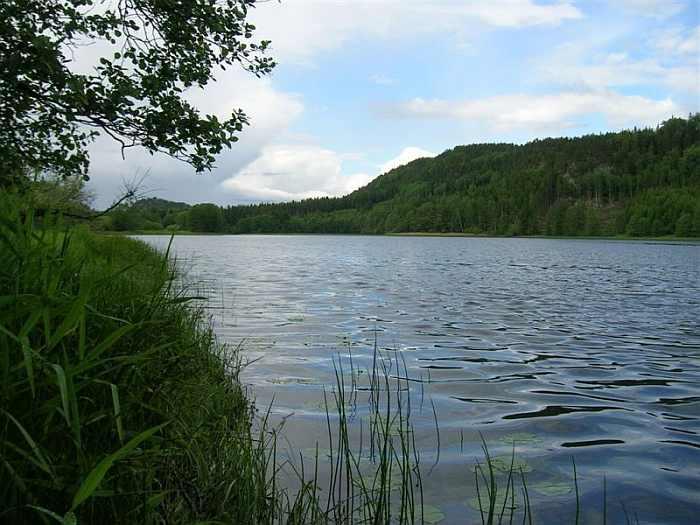 Der Fluss Enningdalselva hat schmale und breitere Abschnitte