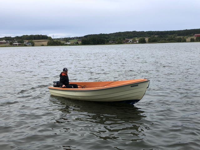 Das Motorboot  >Askeladden< ist ein klassisches  norwegisches  Angelboot