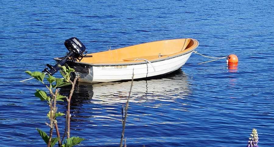 Bereits im Hauspreis enthalten - Angelboot  >Askeladden<  15 Fuß/5 PS, 4-Takter