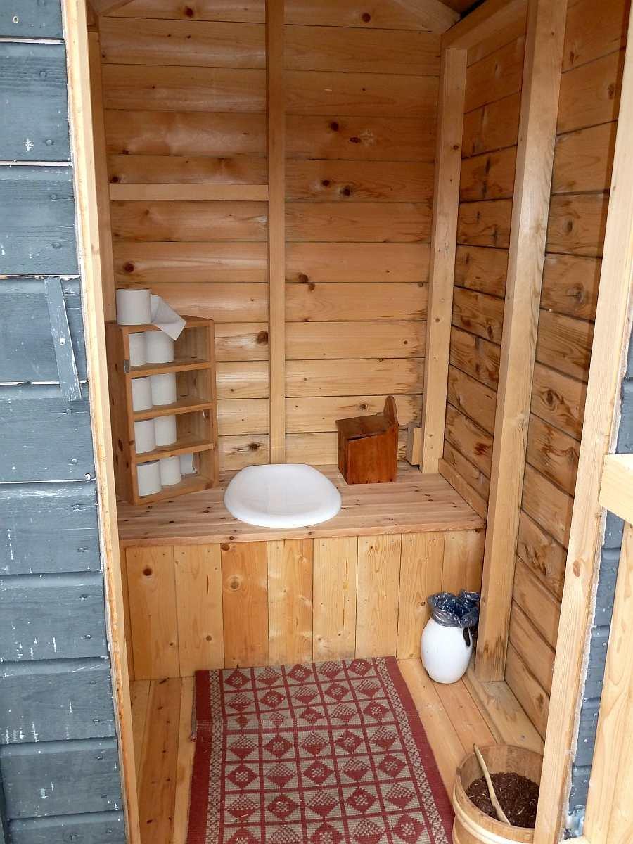So einladend kann eine Biotoilette sein!
