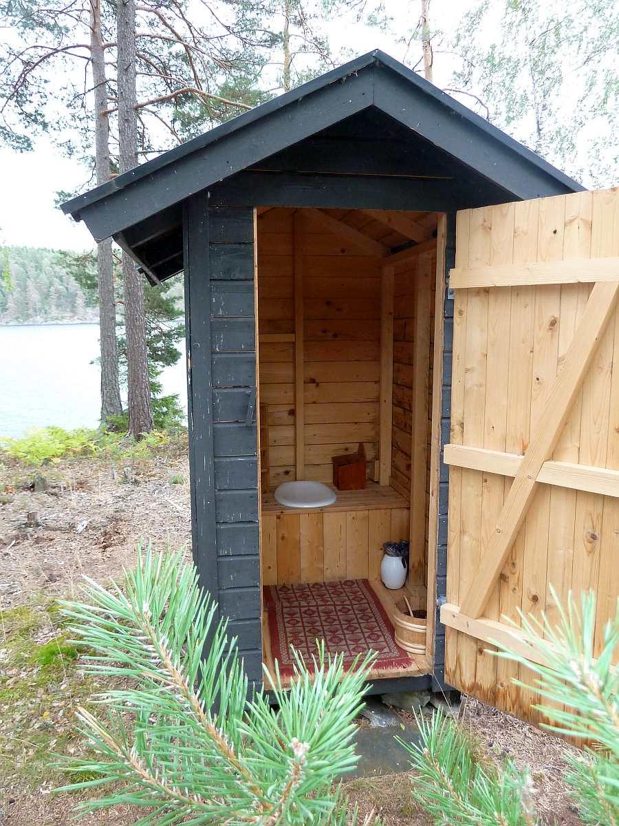 Hier findet man die klassische norwegische Biotoilette - das sogenannte >Utedo<