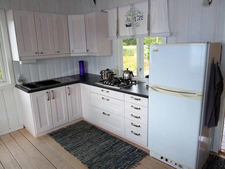 Die offene  Studioküche des Hauses