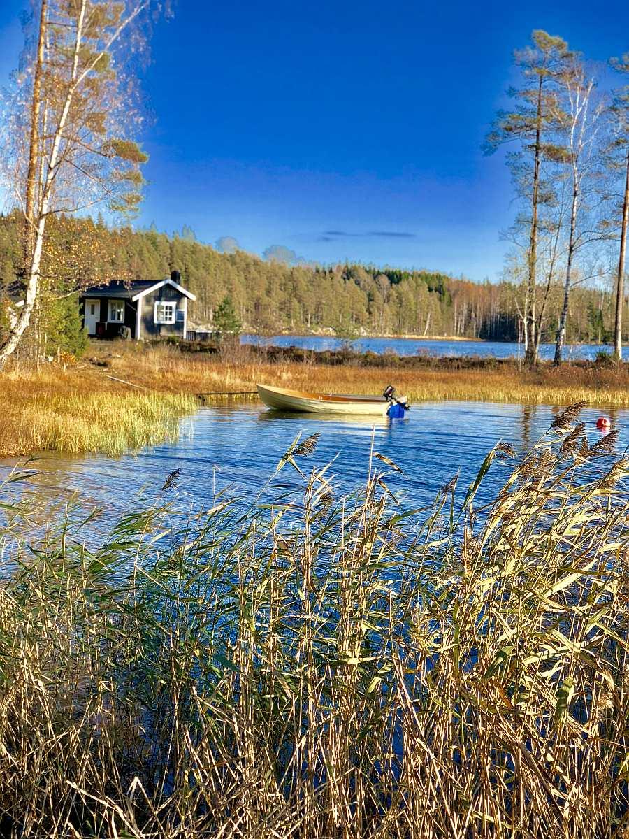 Das Angelboot liegt nur wenige Meter von Haus entfernt