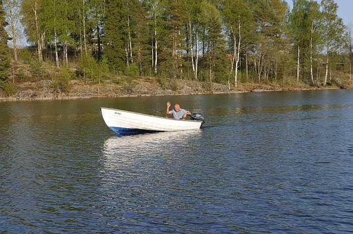 Angelboot 15 Fuß/5 PS - am See Bjørknessjøen