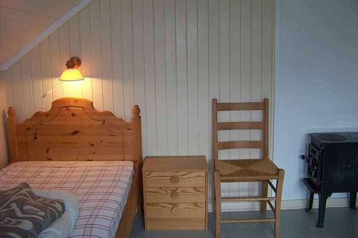 Eines der drei Schlafzimmer mit je zwei Einzelbetten