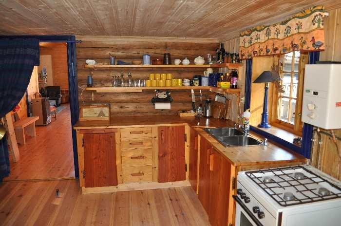Die Küche des Ferienhauses Digernes