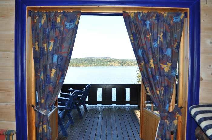 Blick aus dem Haus auf den See