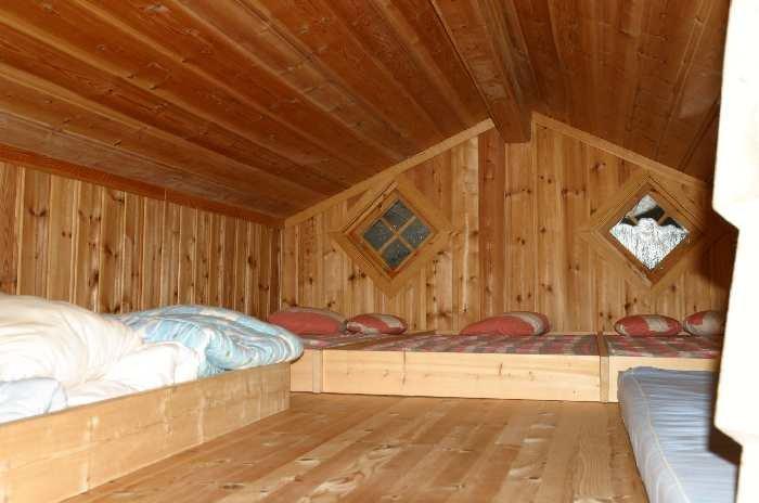 Zusätzliche Schlafplätze im Hems des Haupthauses