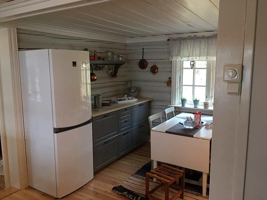 Küche Mit Kühl Gefrierkombination | Angeln In Norwegen Ferienhaus Ihlebek Gunstig Buchen Nbihl