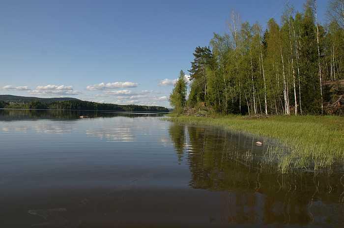 Der See vor dem Haus
