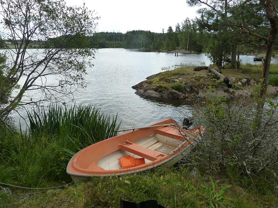 Der Bootsliegeplatz am Ferienhaus