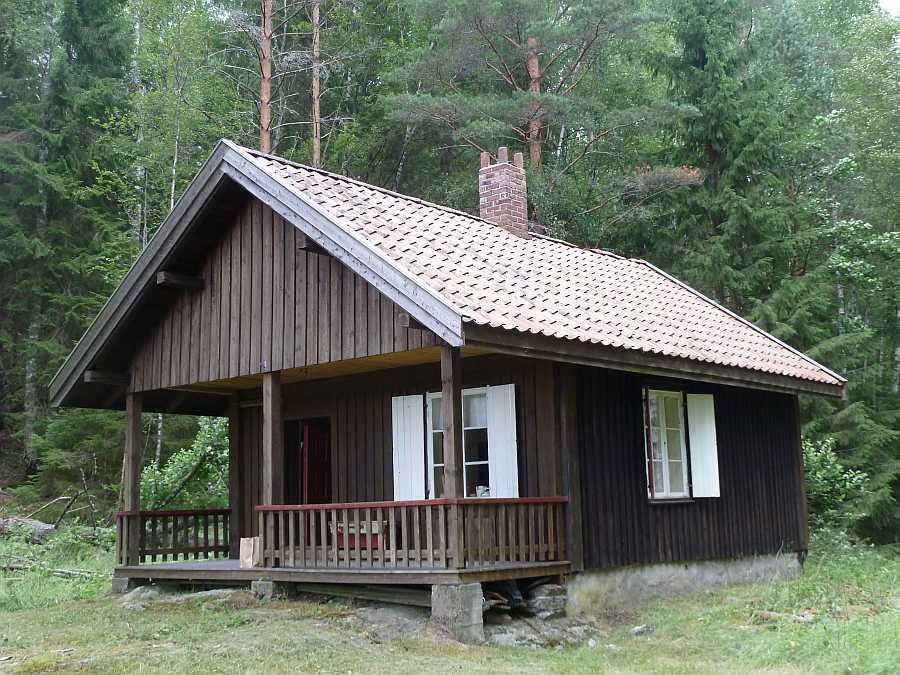 Ferienhaus Klokkerhytta am See Øymarksjøen