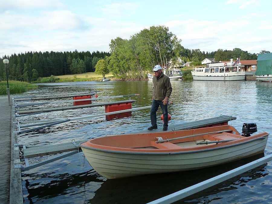 Eigener Bootsliegeplatz an der Schleusenanlage Strømsfoss