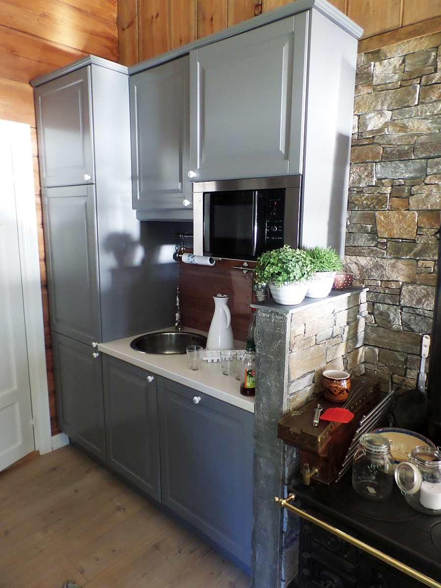 ...vom Geschirrspüler bis zur Mikrowelle ist  in der Küche alles vorhanden