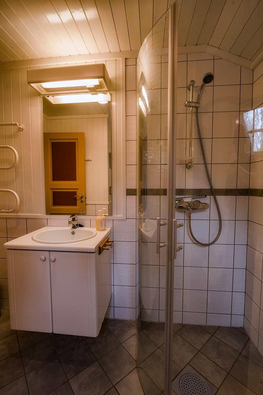 Das Bad des Ferienhauses