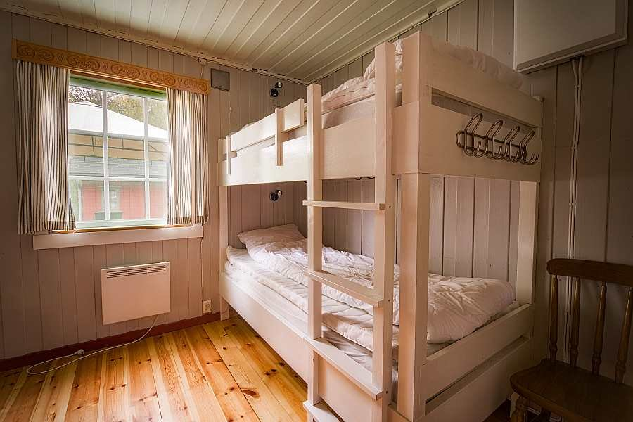 Das Schlafzimmer  mit 2x  Etagenbett