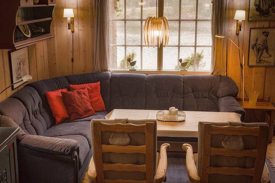 Die Sitzecke des Wohnzimmers