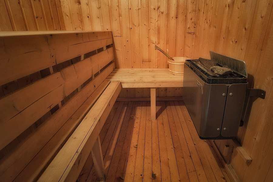 Die Sauna im Nebengebäude