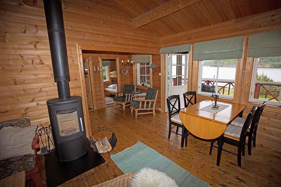 Wohnbereich mit Kamin/Holzofen
