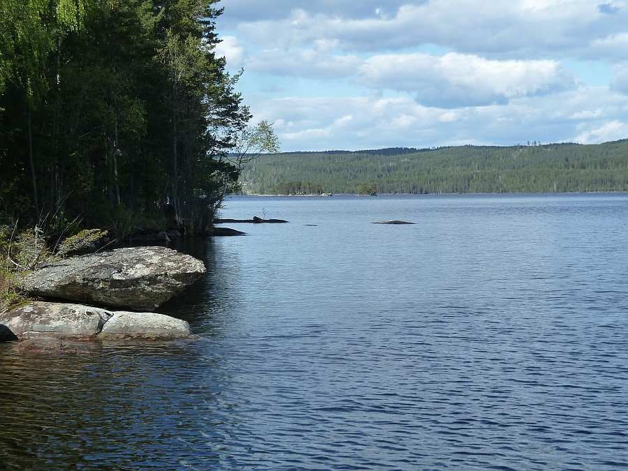 Blick auf den See Rømsjøen