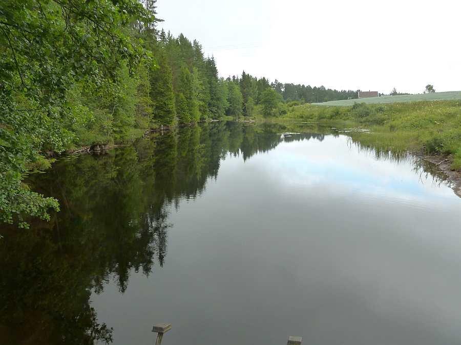 Der kleine Fluss der nahe am Ferienhaus vorbei fließt. Hier sollten Sie einmal mit der Spinnrute entlang wandern...