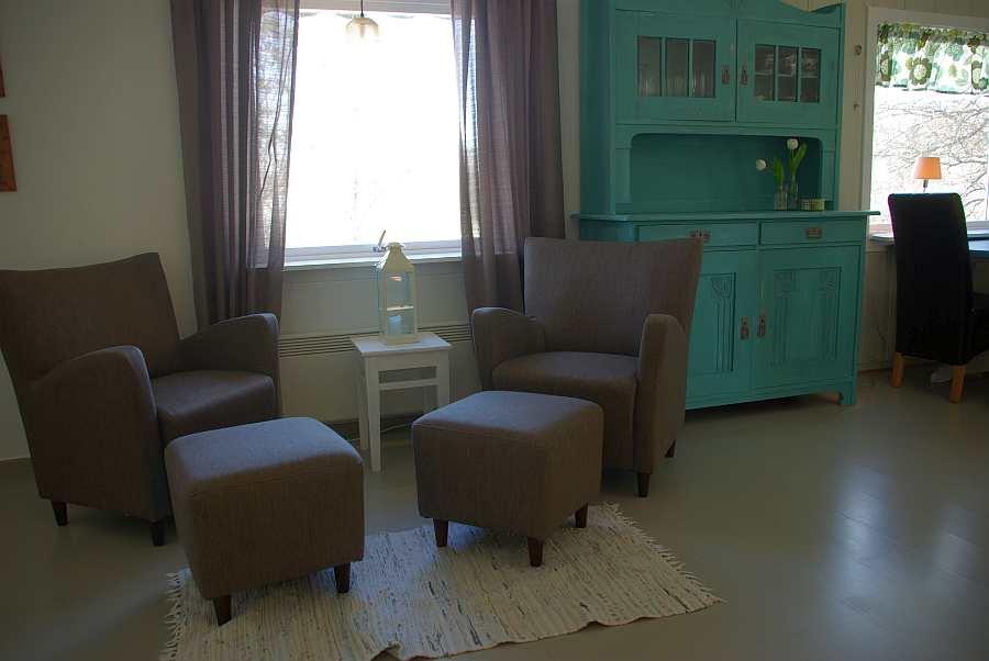 Eine weiterer Sitzbereich im Wohnzimmer
