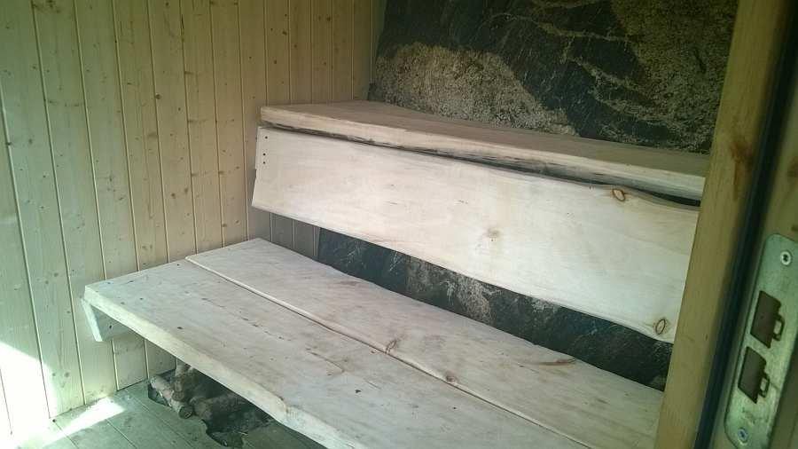 Die Sauna des Ferienhauses