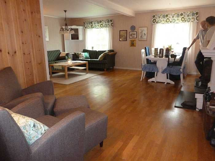 Der großzügige Wohnraum des Ferienhauses