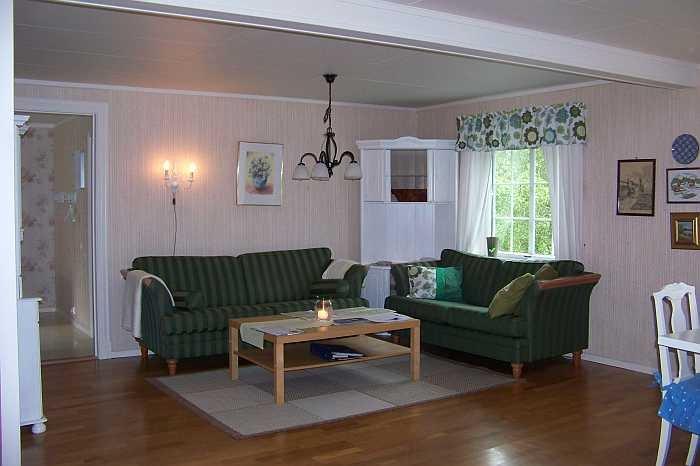 Eine der drei Sitzecken des Ferienhauses