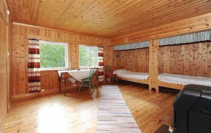 Der optional zubuchbare, zusätzliche Schlafraum mit 2 Einzelbetten. Zusammen mit dem Haupthaus haben so insgesamt 8 Personen Platz Ihre Ferien hier zu verbringen