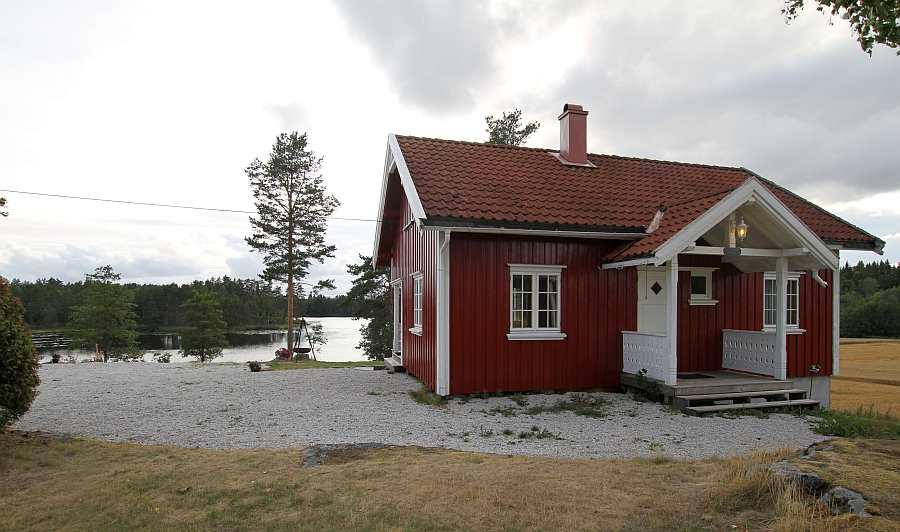 Die Lage des Ferienhauses am See