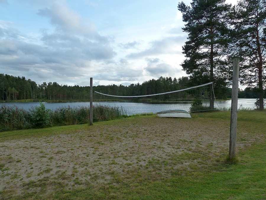 Ein einfacher  Beachvolleyball-Platz steht zur Verfügung