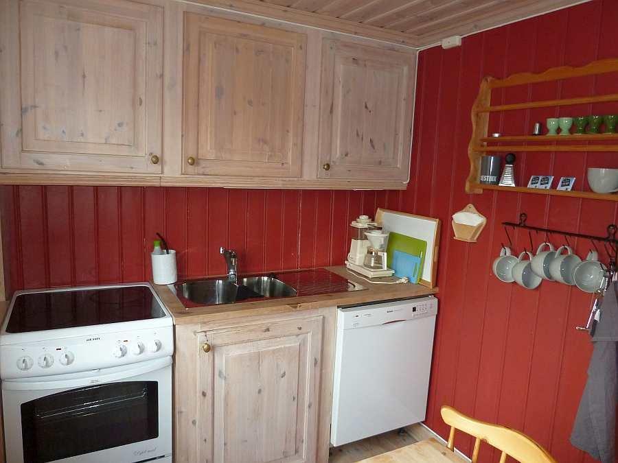 Die Küche ist von der Spülmaschine bis  zur Kaffeemaschine komplett ausgestattet