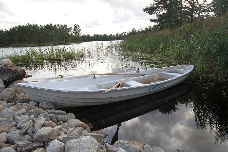Bereits im Hauspreis enthalten - ein perfektes Ruderboot - nicht zu breit, leicht und wendig