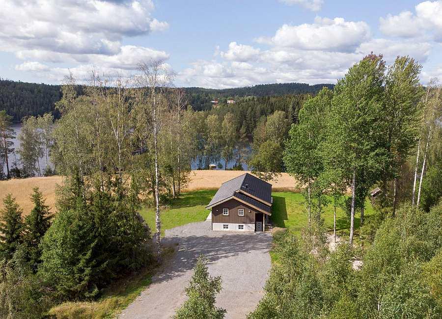 Ferienhaus Rødkinn - hier ist man ganz für sich alleine - Traumlage am Ufer des Hechtsees Øymarksjøen