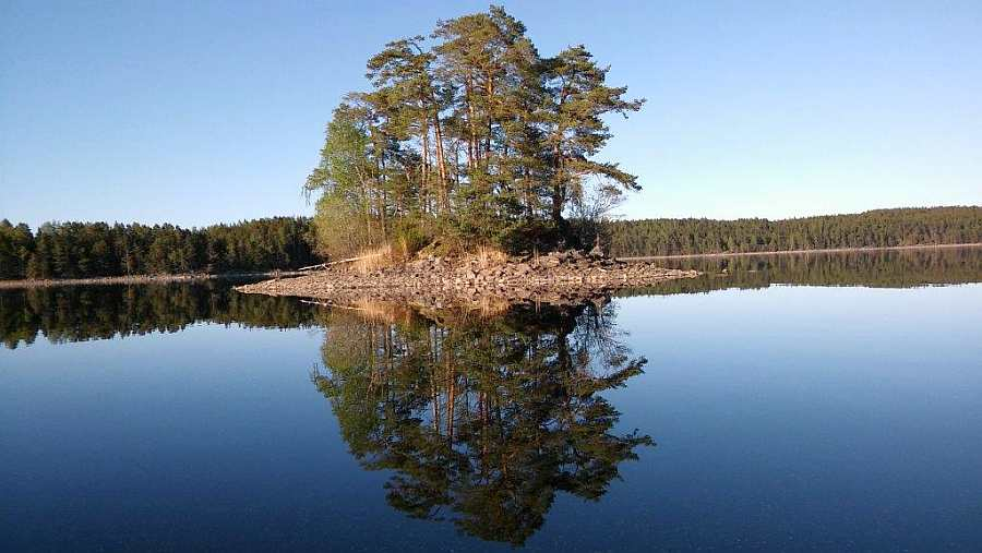 Der See Stora Le ist wunderschön!