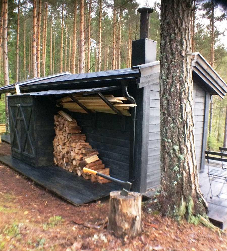 Genug Brennholz steht zur Verfügung! Es ist bereits im Preis enthalten