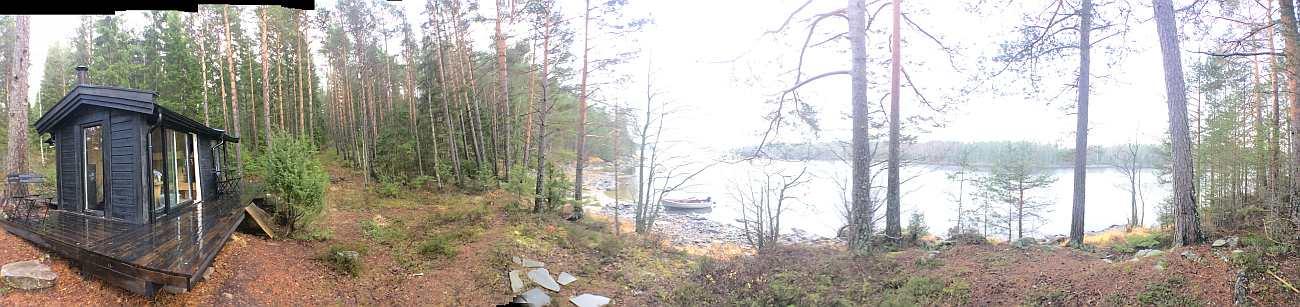 Selbst an solch grauen Novembertagen ist es noch schön hier mitten in der Wildnis