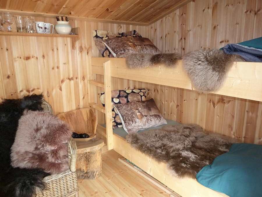 Die Schlafecke mit einem Etagenbett