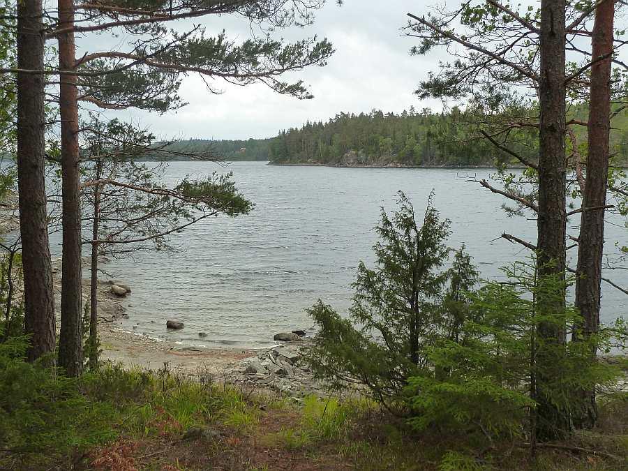 Blick von der Hütte auf den See